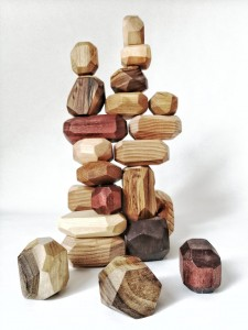 Wooden stones, Balance blocks 24 pcs